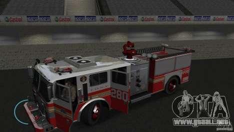 NEW Fire Truck para GTA 4 left