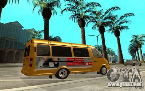 Gacela 32213 (Restajl) para GTA San Andreas left