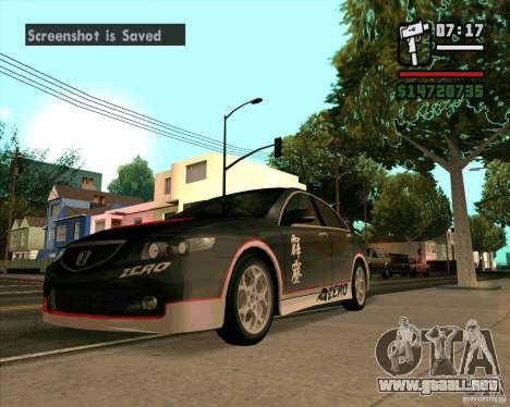Honda Accord Type-S para GTA San Andreas