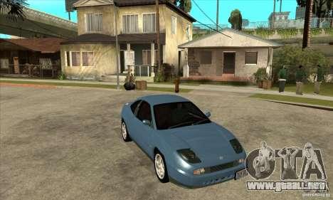 Fiat Coupe - Stock para GTA San Andreas vista hacia atrás