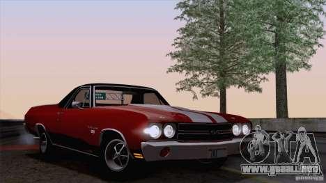 Chevrolet El Camino SS 70 Fixed Version para GTA San Andreas vista posterior izquierda