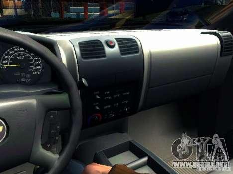 Chevrolet Colorado 2003 para vista lateral GTA San Andreas