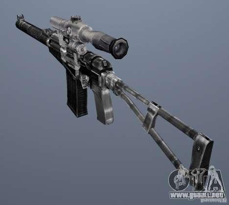 Como Rifle de asalto de Val para GTA San Andreas quinta pantalla