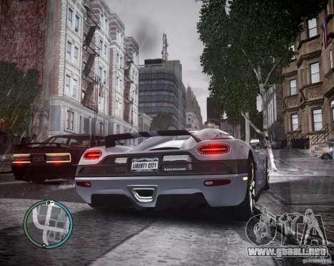 Koenigsegg Agera para GTA 4 visión correcta