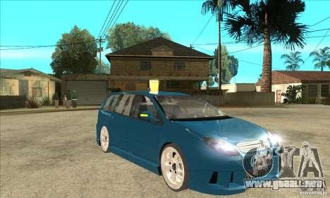 Citroen C5 Break para GTA San Andreas vista hacia atrás