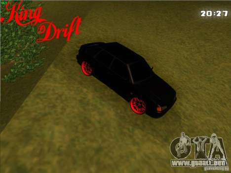 Ваз diablo 2114 estilo para GTA San Andreas vista posterior izquierda