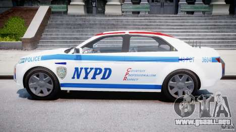 Carbon Motors E7 Concept Interceptor NYPD [ELS] para GTA 4 vista interior