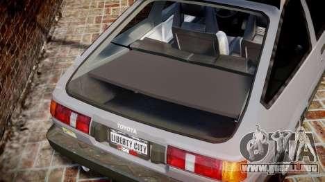 Toyota Sprinter Trueno 1986 para GTA 4 vista lateral