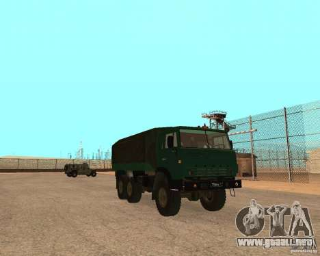 KAMAZ 4310 para GTA San Andreas vista posterior izquierda
