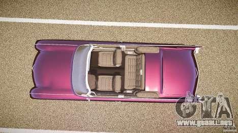 Cadillac Eldorado 1959 interior black para GTA 4 vista hacia atrás