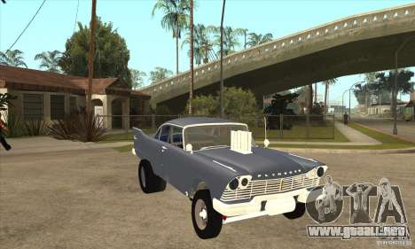 Plymouth Savoy Gasser 1957 para GTA San Andreas vista hacia atrás