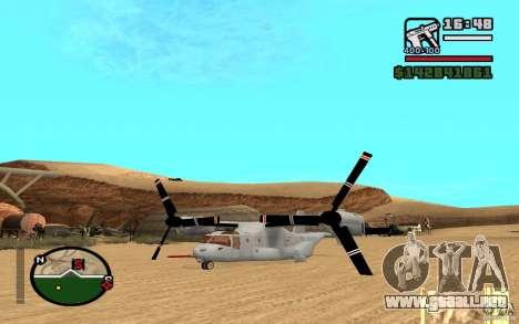 Bell V-22 Osprey para la visión correcta GTA San Andreas
