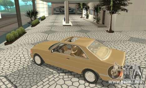 Mercedes-Benz W126 560SEC para GTA San Andreas vista hacia atrás