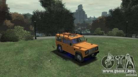 Land Rover Defender Station Wagon 110 para GTA 4 visión correcta