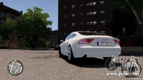 Audi A7 Sportback para GTA 4 visión correcta