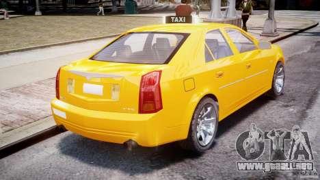Cadillac CTS Taxi para GTA 4 Vista posterior izquierda
