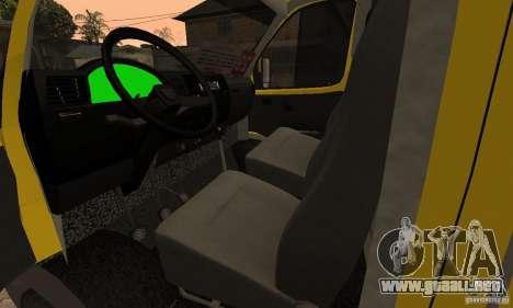 Minibús Gazelle 32213 Novosibirsk para visión interna GTA San Andreas
