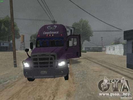 Freightliner Cascadia para visión interna GTA San Andreas