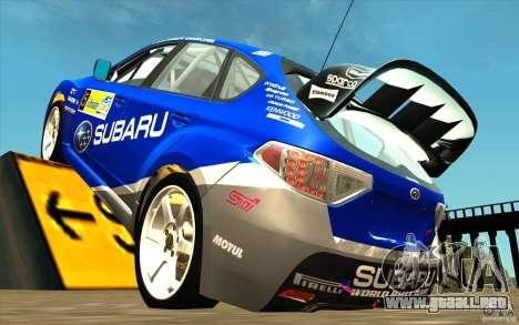 Vinilo nuevo Subaru Impreza WRX STi para GTA San Andreas vista posterior izquierda