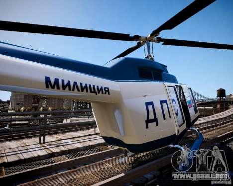 Russian Police Maverick para GTA 4 left
