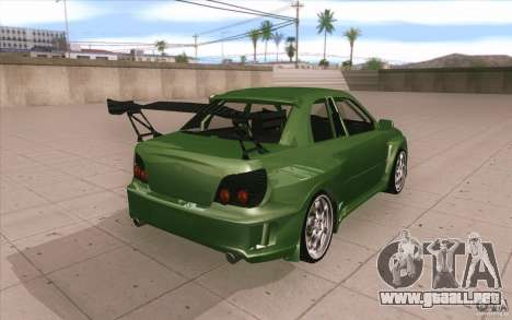 Subaru Impreza STI para vista lateral GTA San Andreas