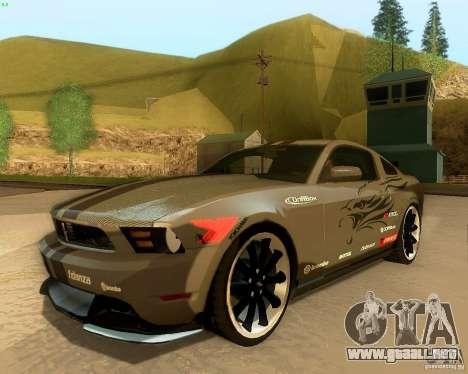 Ford Mustang Boss 302 2011 para la vista superior GTA San Andreas