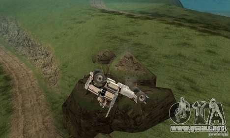 Peterbilt 289 para visión interna GTA San Andreas