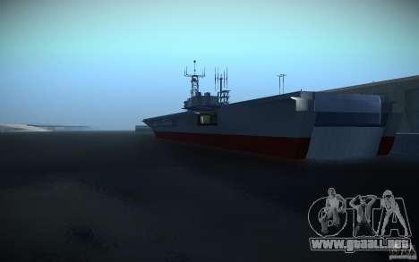 Portaaviones V2 Final para GTA San Andreas segunda pantalla