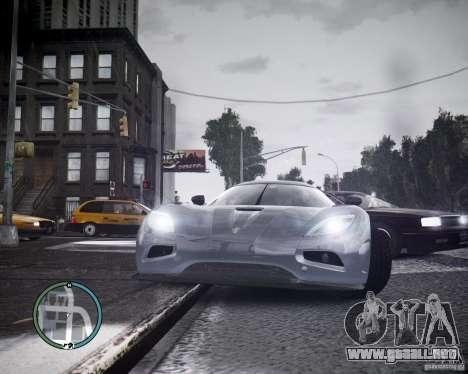 Koenigsegg Agera para GTA 4 left
