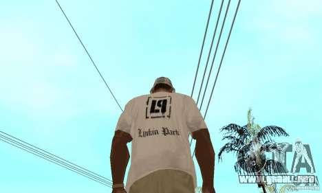 LP shirt white para GTA San Andreas segunda pantalla
