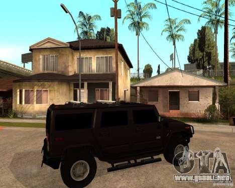 Hummer H2 SE para la visión correcta GTA San Andreas