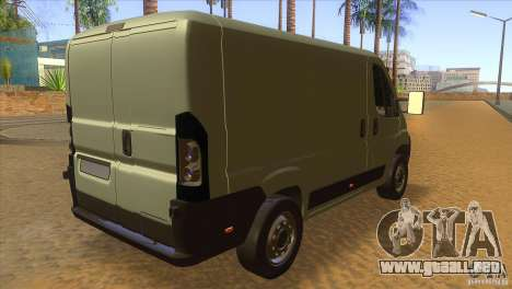 Citroen Jumper para la visión correcta GTA San Andreas