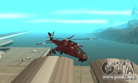 Mi-24 para GTA San Andreas vista hacia atrás