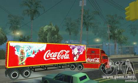 KAMAZ 54112 Navidad para GTA San Andreas left