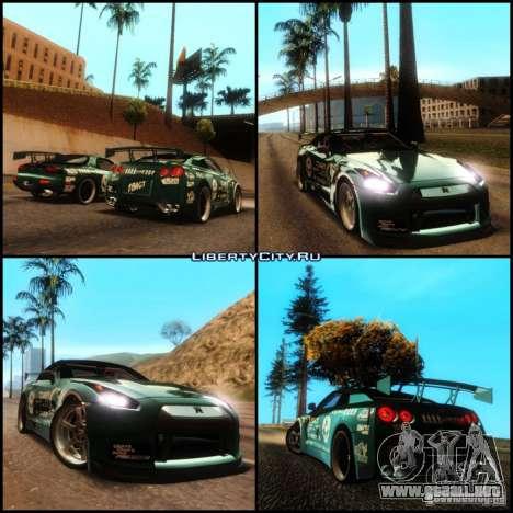 Nissan GT-R R35 rEACT para visión interna GTA San Andreas