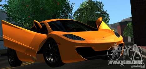 McLaren MP4-12C TT Black Revel para GTA San Andreas interior