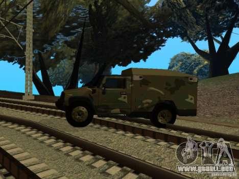Hummer H2 Army para GTA San Andreas vista posterior izquierda