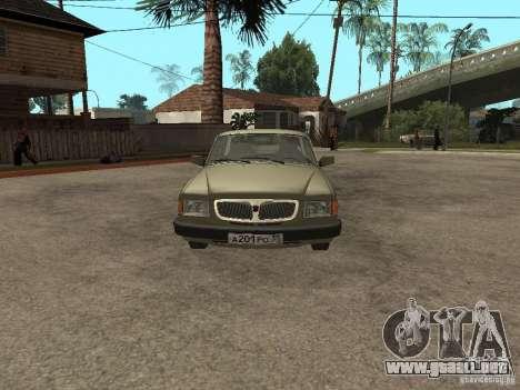 GAZ 3110 v 1 para la visión correcta GTA San Andreas