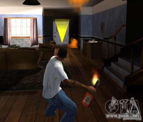 Cóctel Molotov para GTA San Andreas sucesivamente de pantalla