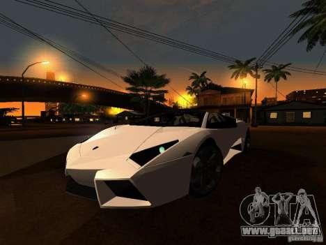 Lamborghini Reventon Roadster para GTA San Andreas left