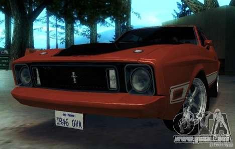 Ford Mustang Mach1 1973 para la vista superior GTA San Andreas