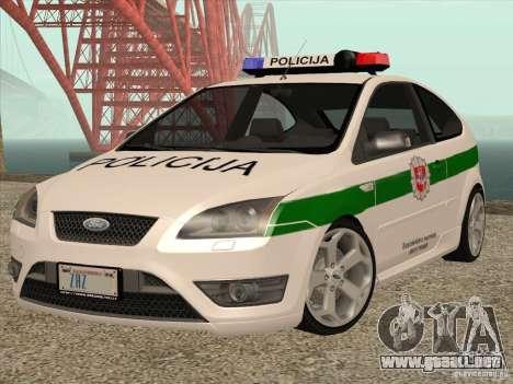Ford Focus ST Policija para GTA San Andreas
