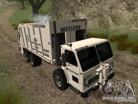 Camión de basura de GTA 4 para visión interna GTA San Andreas