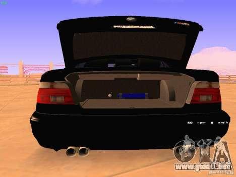 BMW M5 E39 Stanced para la visión correcta GTA San Andreas