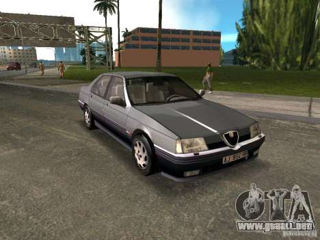 Alfa Romeo 164 para GTA Vice City vista lateral izquierdo