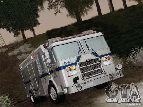 Pierce Fire Rescues. Bone County Hazmat para la vista superior GTA San Andreas