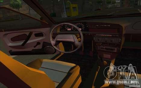 VAZ 2115 Stock v1.0 para visión interna GTA San Andreas