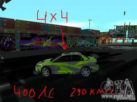 Drift mod para GTA San Andreas segunda pantalla