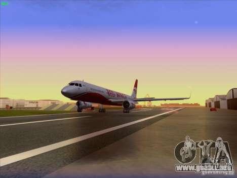 Tupolev Tu-204 Red Wings Airlines para GTA San Andreas vista hacia atrás