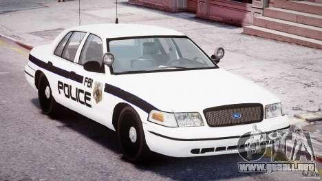 Ford Crown Victoria FBI Police 2003 para GTA 4 vista lateral